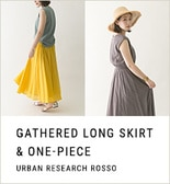 【ROSSO】GATHERED LONG SKIRT&ONE-PIECE