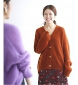 Three-color cardigan~AURALEE for IENA~