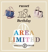 ◆russet 18th Birthday◆W FACE TOTE BAG 通常販売スタート!