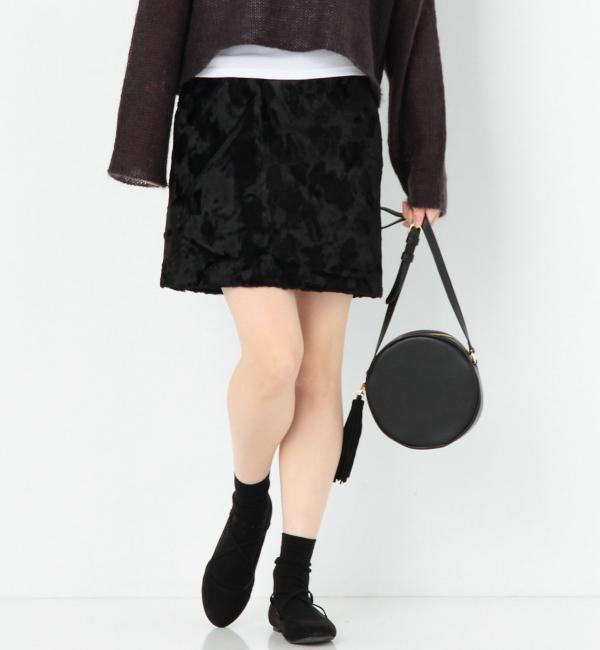 【アナザーエディション/Another Edition】 シールスキン風ミニスカート/AEMFC SEALSKIN MINI [送料無料]