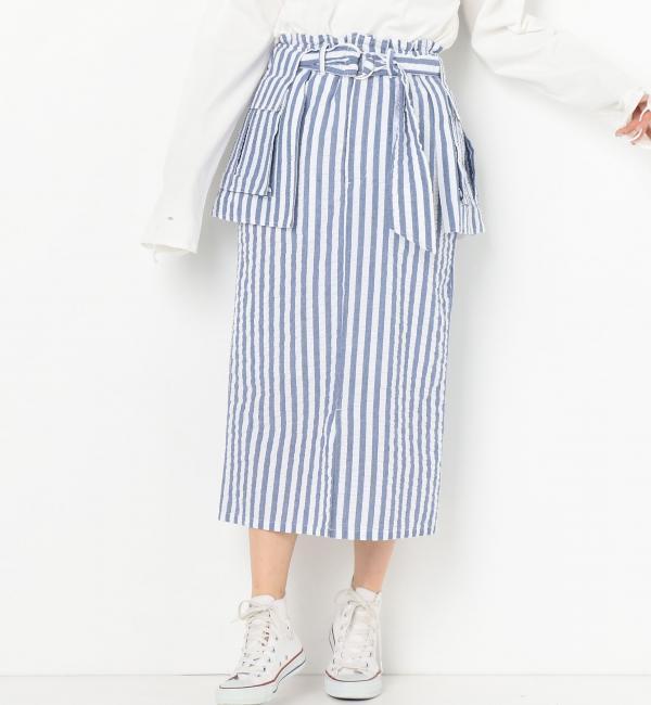 【アナザーエディション/Another Edition】 ストライプポケットスカート [送料無料]