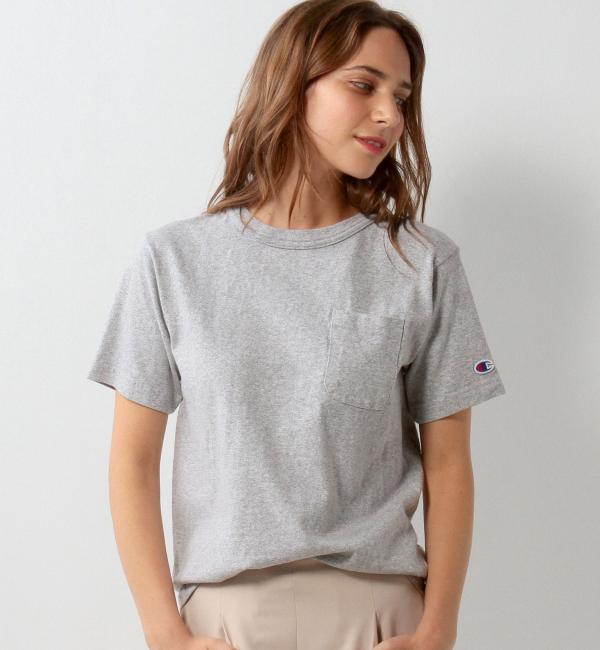 【ジュエルチェンジズ/Jewel Changes】 【WEB限定】◎Champion 1ポケット Tシャツ GRY / チャンピオン [3000円(税込)以上で送料無料]