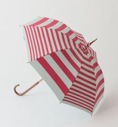 <アイルミネ> ★送料無料!◎cocca ランダムボーダー 晴雨兼用傘 / ムーンバット / コッカ画像
