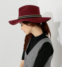 【ジュエルチェンジズ/Jewel Changes】 SENSI STUDIO ロングブリムハット WINE / センシスタジオ / 帽子 / HAT [送料無料]