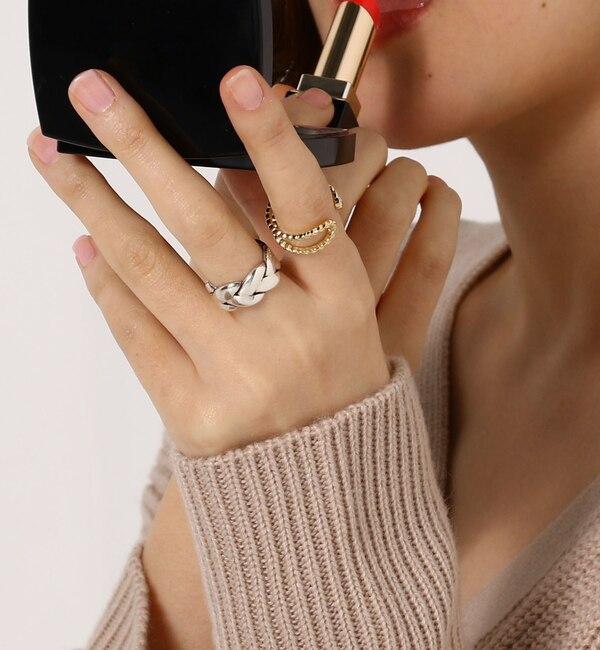 【ジュエルチェンジズ/Jewel Changes】 【WEB限定】◎PHILIPPE AUDIBERT ツイストクロスリング GD / Fillan ring