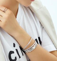 <アイルミネ> 【WEB限定】◎PHILIPPE AUDIBERT ツイストクロスブレス SIL / Fillan bracelet / フィリップオーディベール [送料無料]画像