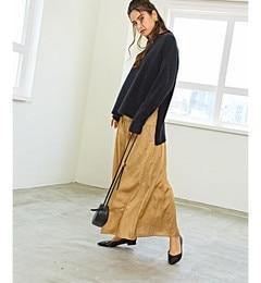 <アイルミネ> SMF T/C ギャザー マキシスカート画像