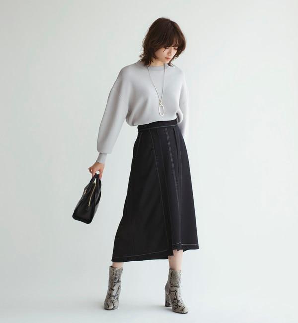 【エメルリファインズ/EMMEL REFINES】 SMF ポリカルゼ ステッチスカート