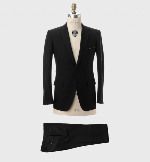 【ユナイテッドアローズ/UNITED ARROWS】 UDET ブラック ヘリンボーン ナロー 2B スーツ [送料無料]