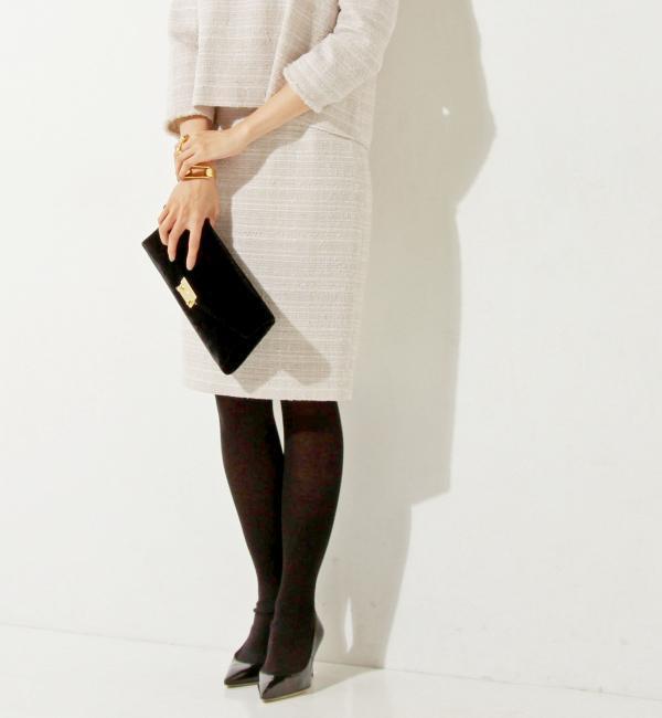 【ユナイテッドアローズ/UNITED ARROWS】 UPCE ラメ ツイード タイト スカート [送料無料]