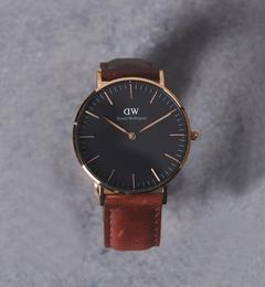 <アイルミネ>【ユナイテッドアローズ/UNITED ARROWS】 <Daniel Wellington>BLACK MODEL St Mawes 腕時計 36mm† [送料無料]画像