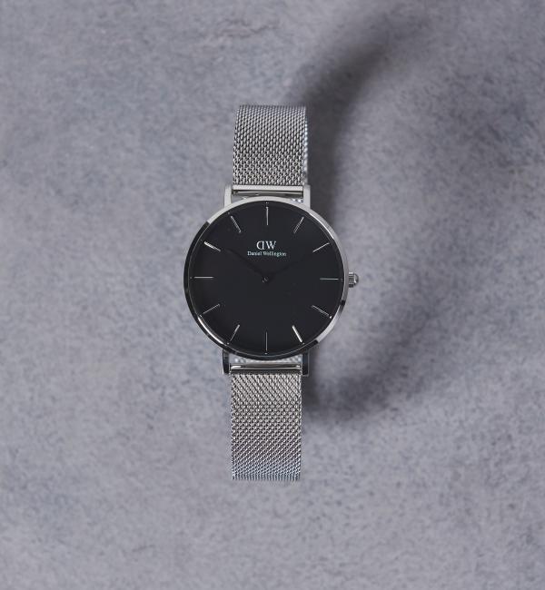 Daniel Wellington(ダニエル ウェリントン) PETITE BLACK 腕時計32mm†【ユナイテッドアローズ/UNITED ARROWS レディス 腕時計 SILVER ルミネ LUMINE】