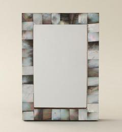 【ユナイテッドアローズ/UNITEDARROWS】モザイクミラーフォトフレームライトグレー[送料無料]