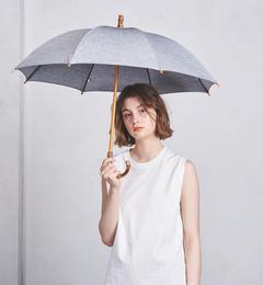 <アイルミネ> ユナイテッドアローズ厳選 UBCS 無地 シャンブレー 晴雨兼用 傘 [送料無料]画像