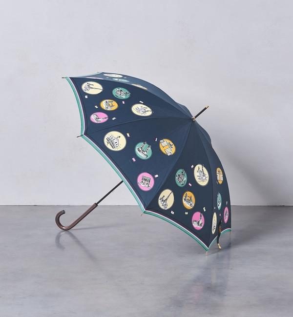 【ユナイテッドアローズ/UNITED ARROWS】 <manipuri(マニプリ)>プリント 晴雨兼用 長傘 18AW