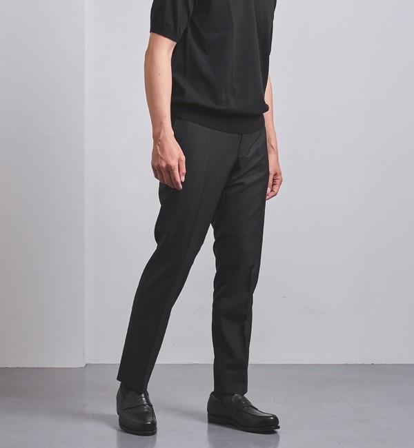 メンズファッションなら|【ユナイテッドアローズ/UNITED ARROWS】 【WEB限定】<UNITED ARROWS> WL/PE ヘリンボーン ノープリーツ テーパード