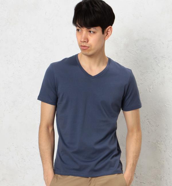 【グリーンレーベルリラクシング/green label relaxing】 KC ◎GIZA V/N S/S Tシャツ [3000円(税込)以上で送料無料]