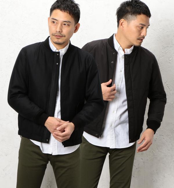 【グリーンレーベルリラクシング/green label relaxing】 BC REV/SAXONY フライトジャケット [送料無料]