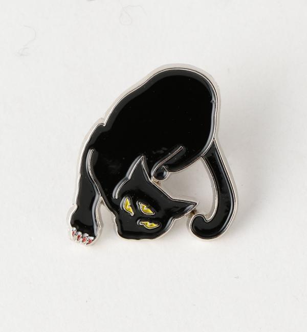 【グリーンレーベルリラクシング/green label relaxing】 [リルバリーズ]BC LBC BLACK CAT ピンバッチ [3000円(税込)以上で送料無料]