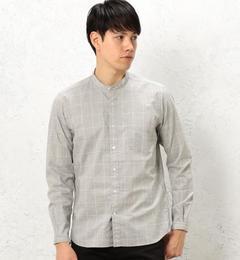 【グリーンレーベルリラクシング/greenlabelrelaxing】KCW/PLOOSEバンドカラーシャツ[送料無料]