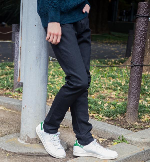 【グリーンレーベルリラクシング/green label relaxing】 BC SKINNY ブラック/デニム 5P パンツ [送料無料]