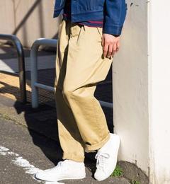【グリーンレーベルリラクシング/green label relaxing】 【WEB限定】SC★★BAGGY チノ ワイド パンツ † [送料無料]