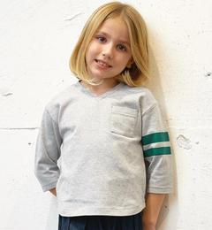 【グリーンレーベルリラクシング/green label relaxing】 【KIDS】 Vネック ビッグ Tシャツ 7L [3000円(税込)以上で送料無料]