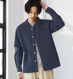 【グリーンレーベルリラクシング/greenlabelrelaxing】KCP/VSASHIKO/DOTオープンカラーシャツ[送料無料]