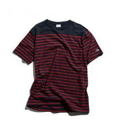 【グリーンレーベルリラクシング/green label relaxing】 【WEB限定】 [チャンピオン] BC★★CHAMPION FB ボーダー Tシャツ [送料無料]
