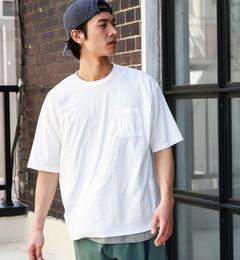 【グリーンレーベルリラクシング/green label relaxing】 BC MINI/PILE ポケット C/N S/S Tシャツ [3000円(税込)以上で送料無料]