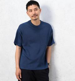 【グリーンレーベルリラクシング/green label relaxing】 KC AZE CLOTH/COMBI C/N サマーニット [3000円(税込)以上で送料無料]