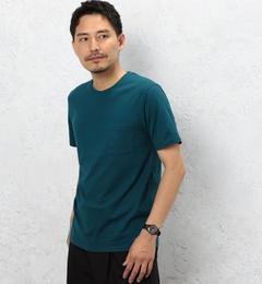 【グリーンレーベルリラクシング/green label relaxing】 CM ◎GIZA ポケット C/N S/S Tシャツ [3000円(税込)以上で送料無料]