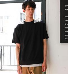 【グリーンレーベルリラクシング/green label relaxing】 CM DRY MESH-Tシャツ×タンクトップ レイヤード   [送料無料]