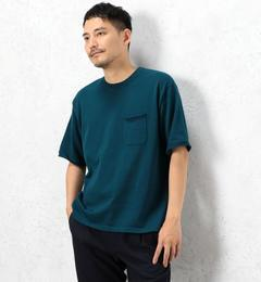 【グリーンレーベルリラクシング/green label relaxing】 SC DRY-MIX ポケット クルーネック / 半袖ニット / カットソー  吸水速乾 [送料無料]