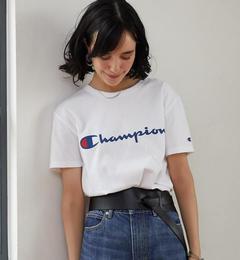 【グリーンレーベルリラクシング/green label relaxing】 [WEB限定][別注チャンピオン]CB Champion×GLRロゴ Tシャツ [送料無料]