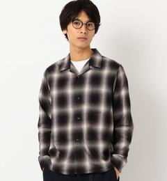【グリーンレーベルリラクシング/green label relaxing】 [タウンクラフト] SC TOWN CRAFT オンブレーチェック オープンカラーシャツ [送料無料]