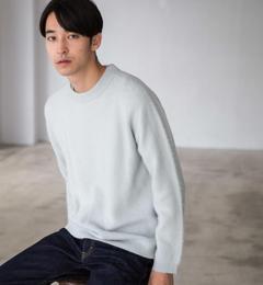 【グリーンレーベルリラクシング/green label relaxing】 CM ヘアリー クルーネック ニット [送料無料]