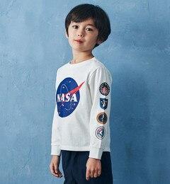 <アイルミネ>【キッズ】NASAロングスリーブTシャツ1画像