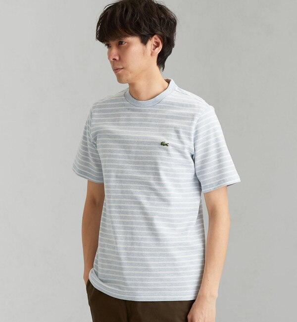 【グリーンレーベルリラクシング/green label relaxing】 [ラコステ] SC LACOSTE H/カノコ ボーダー TH03L Tシャツ
