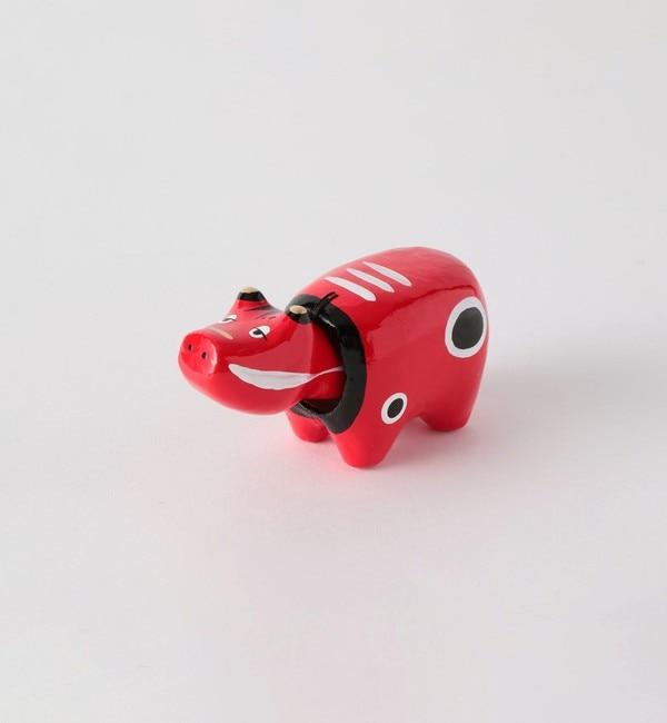 【グリーンレーベルリラクシング/green label relaxing】 [ 酉民藝 ] 眠べこ 1号 赤べこ フィギュア トイ おもちゃ 置物 縁起物 郷土玩具
