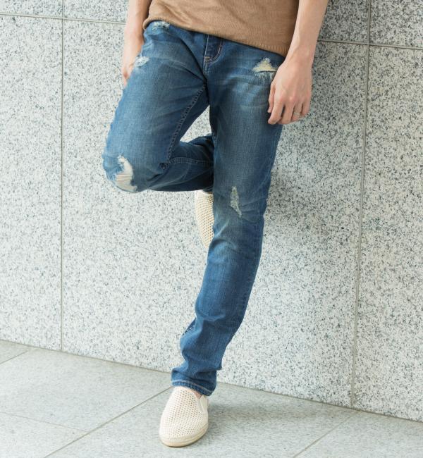 モテ系メンズファッション 【WEB限定】by ∴ クラッシュデニム スキニー パンツ