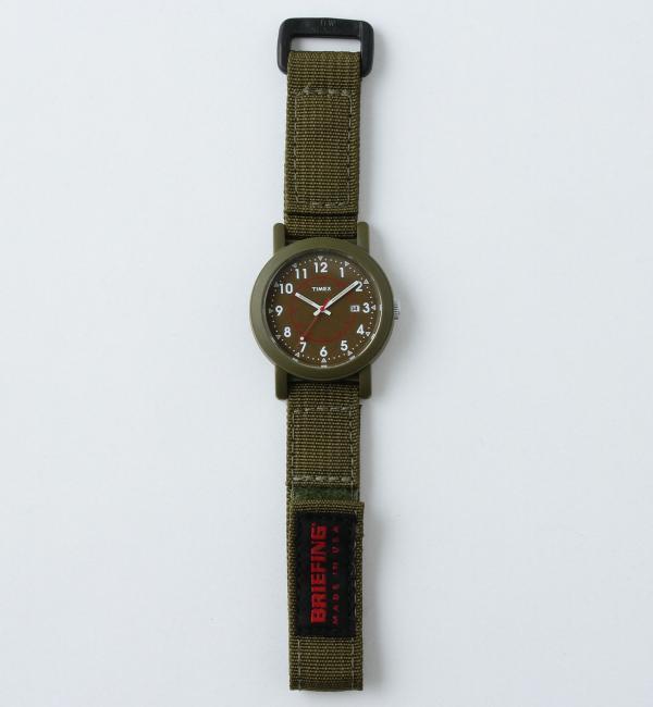 【別注】  TIMEX(タイメックス) × BRIEFING(ブリーフィング) × BY  ∴ OS/CAMPER16SS/腕時【ビューティアンドユース ユナイテッドアローズ/BEAUTY&YOUTH UNITED ARROWS メンズ 腕時計 OLIVE ルミネ LUMINE】