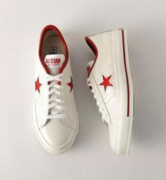 <CONVERSE(コンバース)>ONE STAR MADE IN JAPAN レザースニーカー【ビューティアンドユース ユナイテッドアローズ/BEAUTY&YOUTH UNITED ARROWS レディス その他(シューズ) RED ルミネ LUMINE】