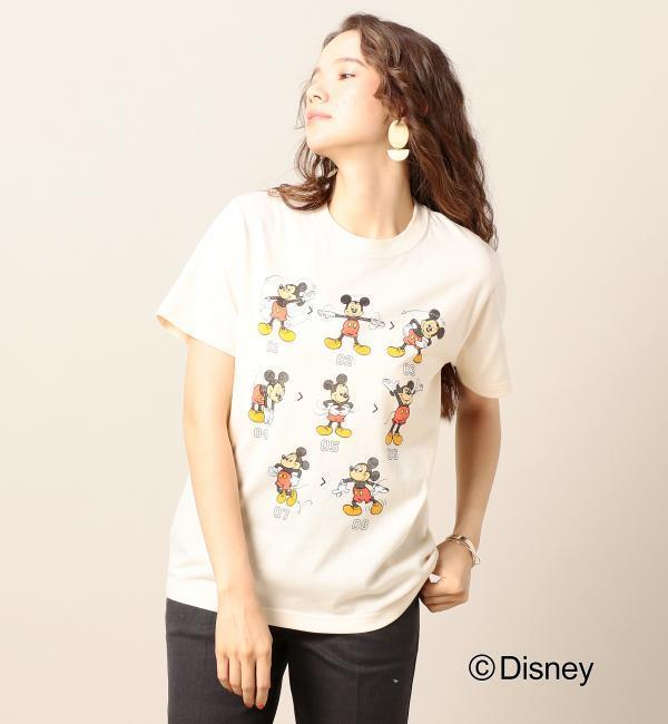 【ビューティアンドユース ユナイテッドアローズ/BEAUTY&YOUTH UNITED ARROWS】 BY MICKY(ミッキー)プリントクルーネックTシャツ/Disney [送料無料]