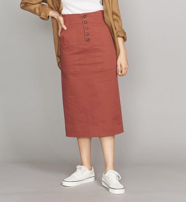 【ビューティアンドユース ユナイテッドアローズ/BEAUTY&YOUTH UNITED ARROWS】 BY ギャバフロントボタンタイトスカート