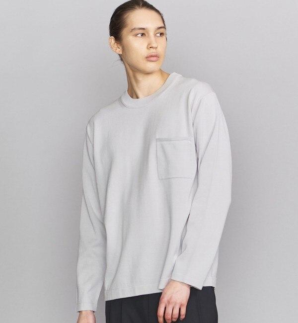 【ビューティアンドユース ユナイテッドアローズ/BEAUTY&YOUTH UNITED ARROWS】 BY 1ポケット ニット Tシャツ