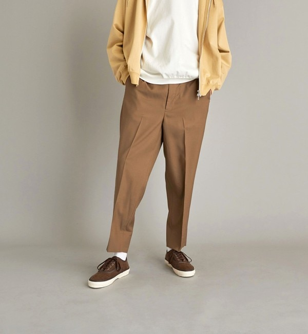 ファッションメンズなら|【ビューティアンドユース ユナイテッドアローズ/BEAUTY&YOUTH UNITED ARROWS】 <Steven Alan> 120S WL SUPER BAGGY TAPERED HALF EASY-JUST/パンツ