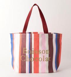 【ボワソンショコラ/Boisson Chocolat】 B ロゴトートマルチストライプ M [3000円(税込)以上で送料無料]