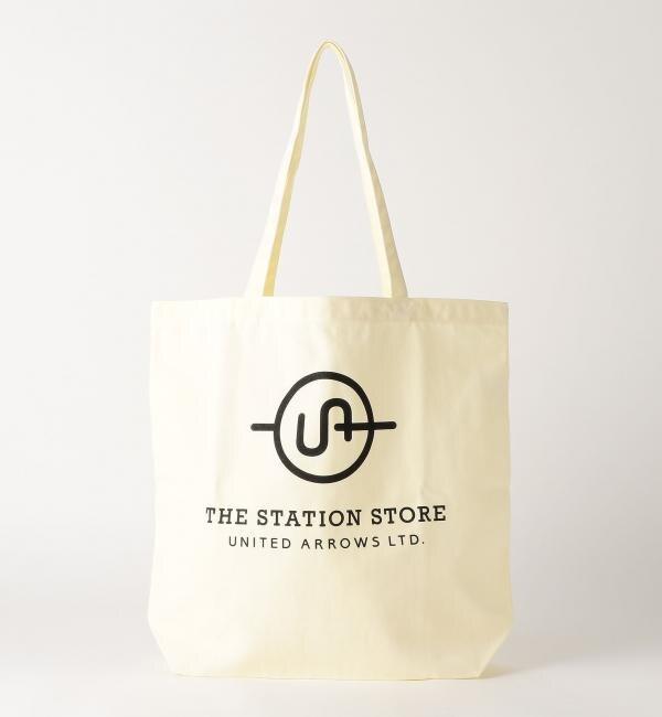 【ザ ステーションストア ユナイテッドアローズ/THE STATION STORE UNITED ARROWS LTD.】 <ST> ロゴ トートバッグ L