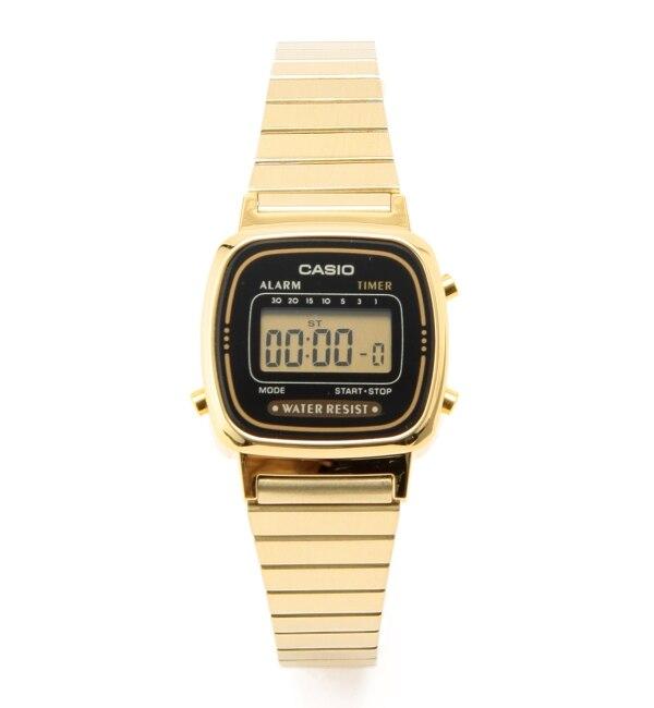 CASIO / デジタルゴールド ミニ【ビームス ウィメン/BEAMS WOMEN レディス 腕時計 GOLD ルミネ LUMINE】